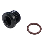 -6  ( 9/16 -18 ) SOCKET HEX PORT PLUG BLACK   ( AN-813)