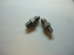 BRAKE FITTING STAINLESS 3/8 INVERTED FLARE TO -3 SOLD AS A PAIR