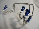 BLOWER FUEL LINES 4150 HOLLEY AND QUICK FUEL SIDE SADDLE BLUE