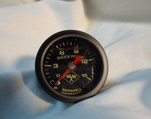 0-15 PSI FUEL GAUGE WET BLACK FACE YELLOW